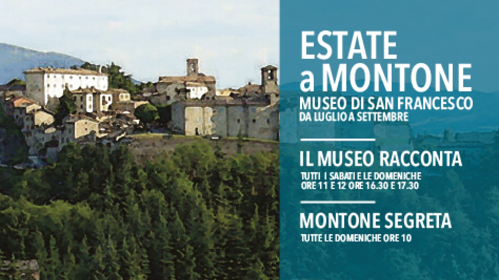 Summer in Montone. The Museum tells and secret Montone